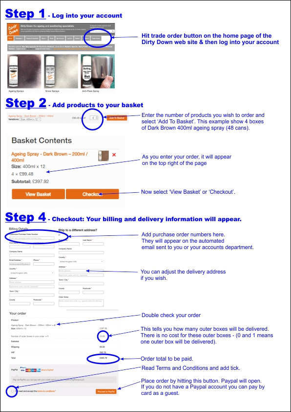 how to purchase from this web site